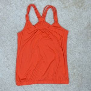Forever 21 Coral Orange Braided Strap Tank Top